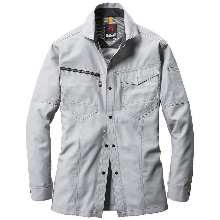 長袖シャツ 7093−5 シルバー (4L)