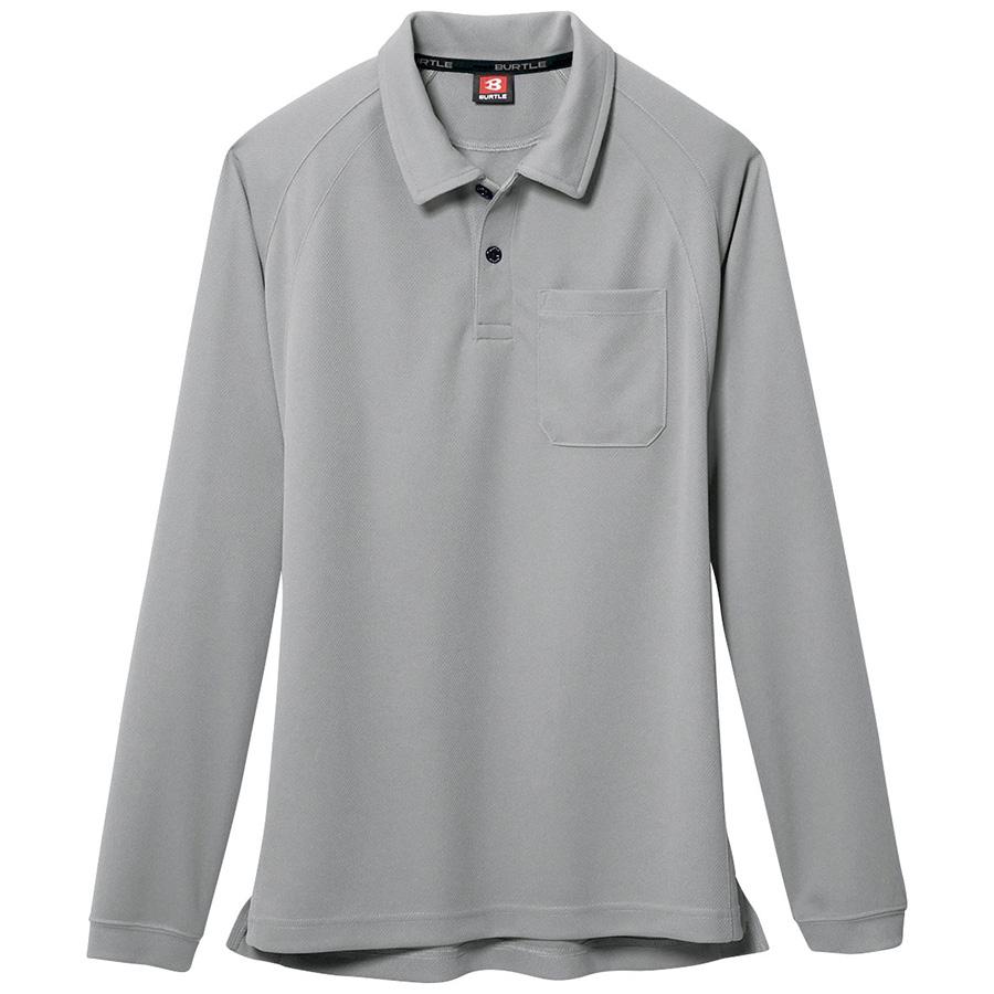 長袖ポロシャツ 103−005 シルバー (SS〜3L)
