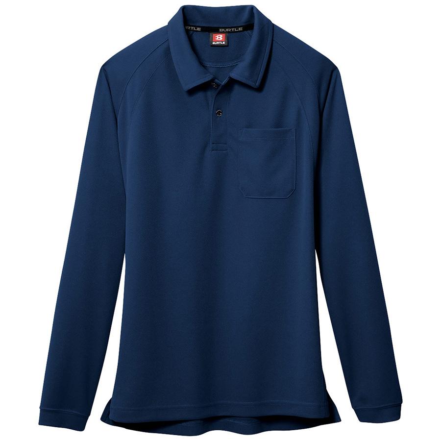長袖ポロシャツ 103−003 ネイビー (4L)