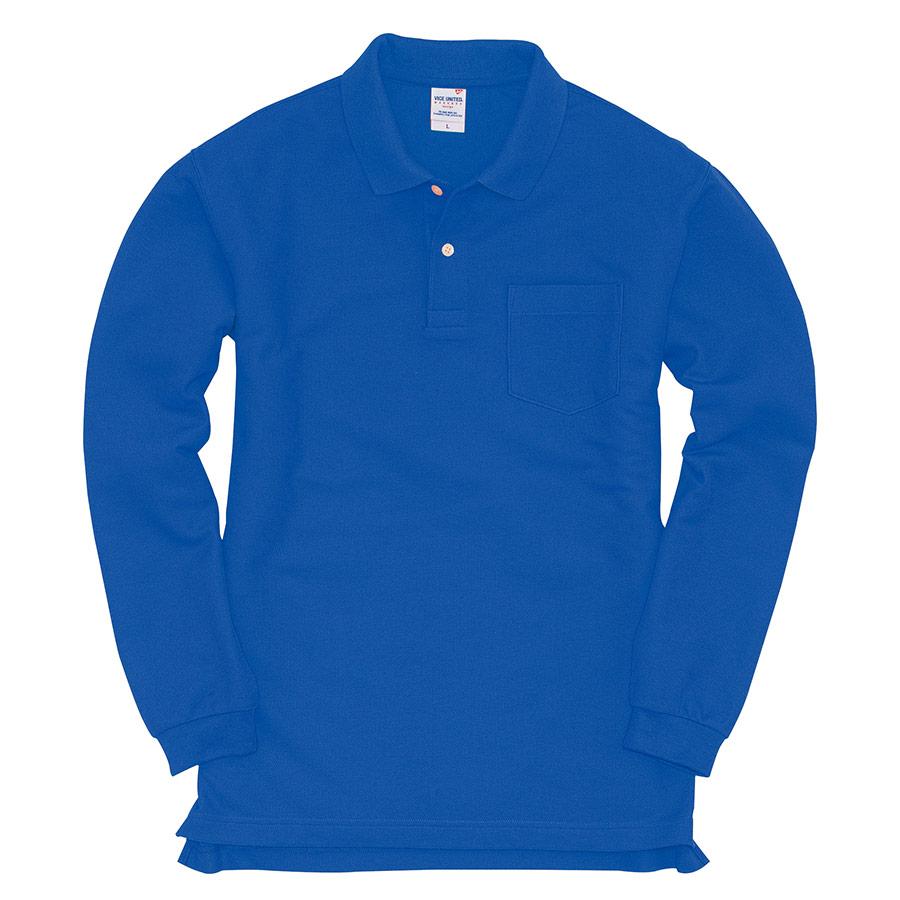 長袖ポロシャツ 203−042 ロイヤルブルー (5L)
