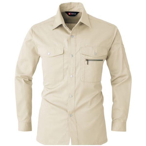 長袖シャツ 620−22 ライトベージュ (4L)