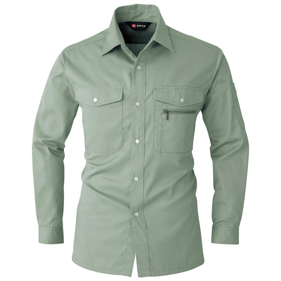 長袖シャツ 620−1 アースグリーン (5L)