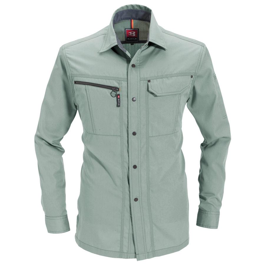 長袖シャツ 6063−1 アースグリーン (5L)