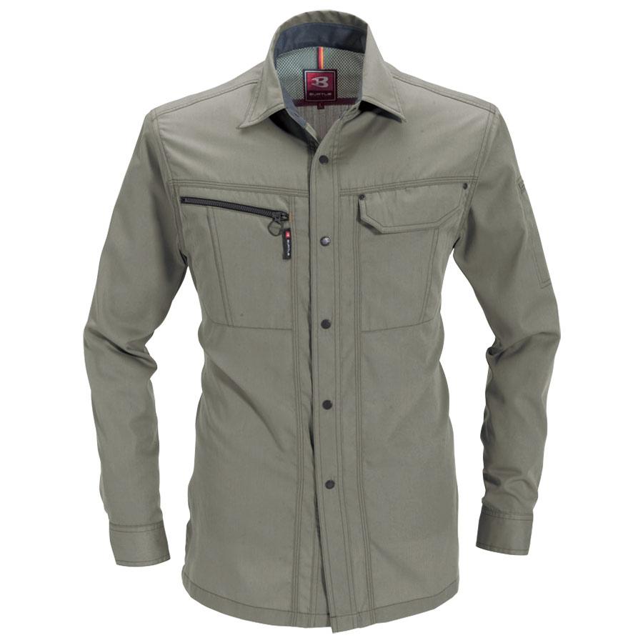 長袖シャツ 6063−21 グレージュ (4L)
