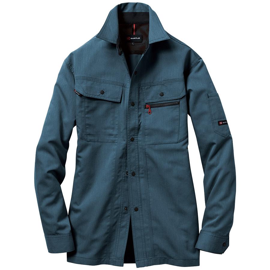 長袖シャツ 8063−45 インディゴ (5L)