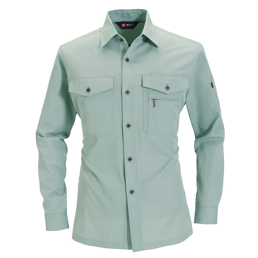 長袖シャツ 8509−1 アースグリーン (5L)