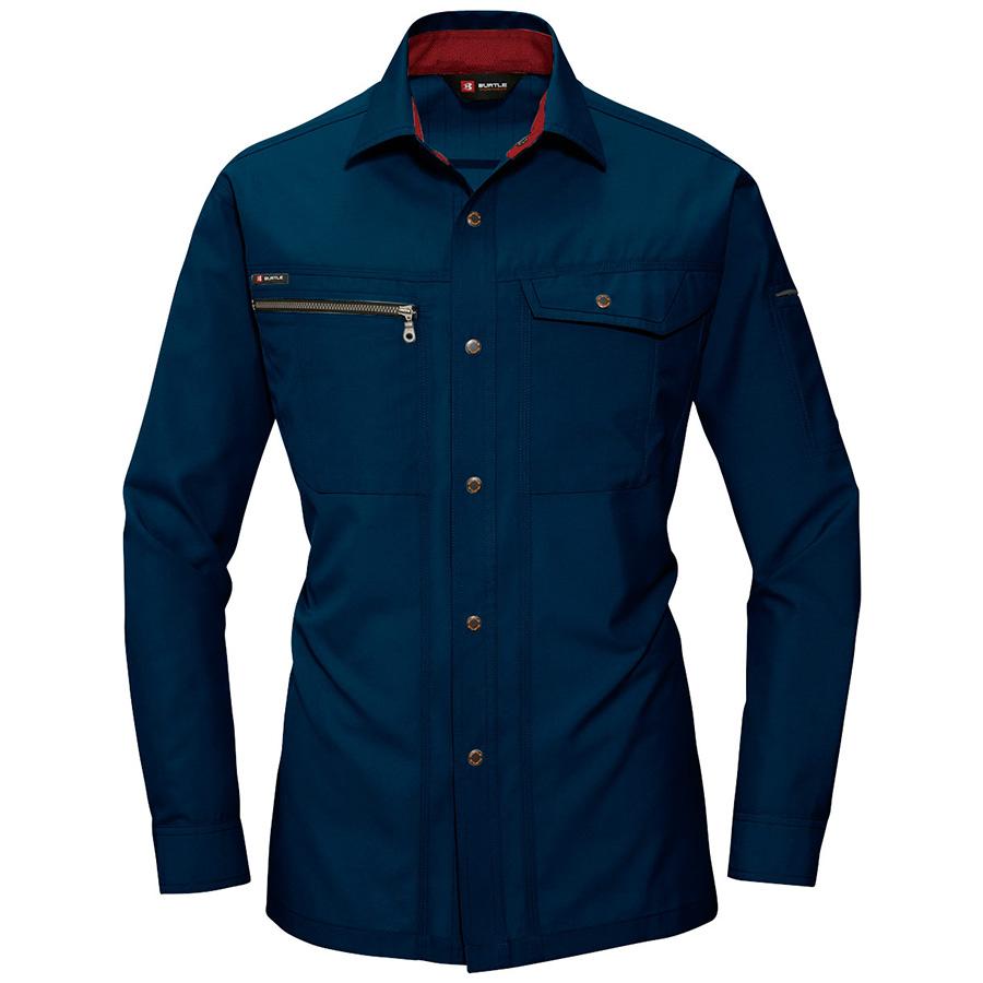 長袖シャツ 9063−3 ネイビー (5L)