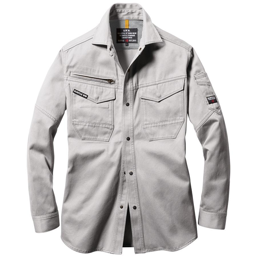 長袖シャツ ユニセックス 8105−5 シルバー (5L)