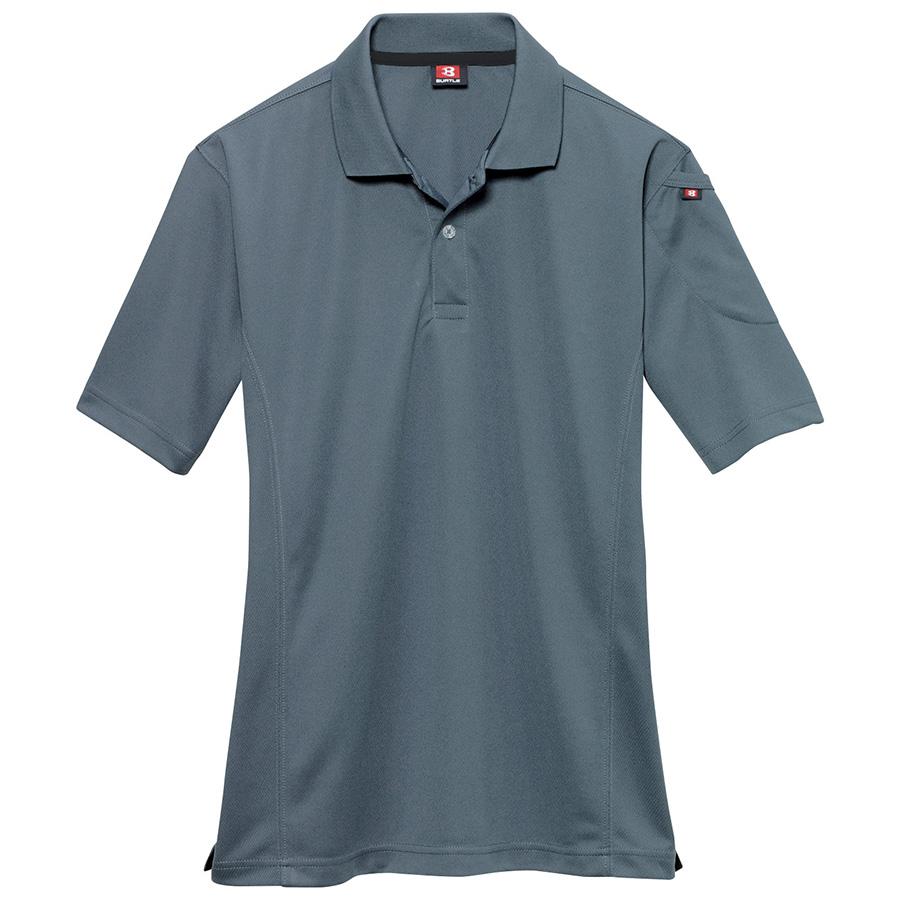 半袖ポロシャツ 305−036 スティール (4L)