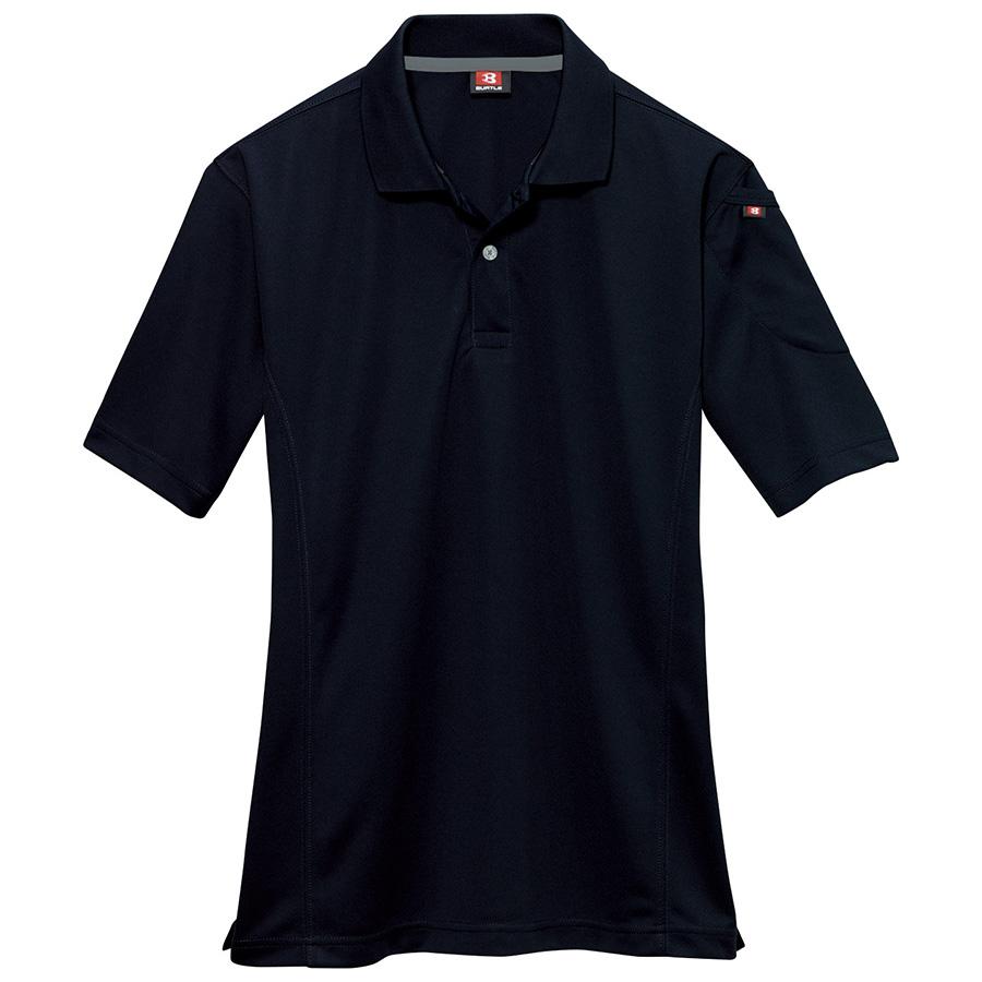 半袖ポロシャツ 305−035 ブラック (SS〜3L)