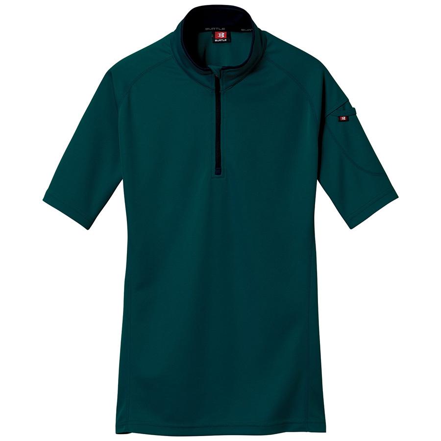 半袖ジップシャツ 415−017 クーガー (5L)