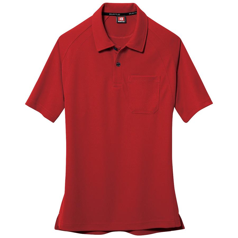 半袖ポロシャツ 105−086 レッド (4L)