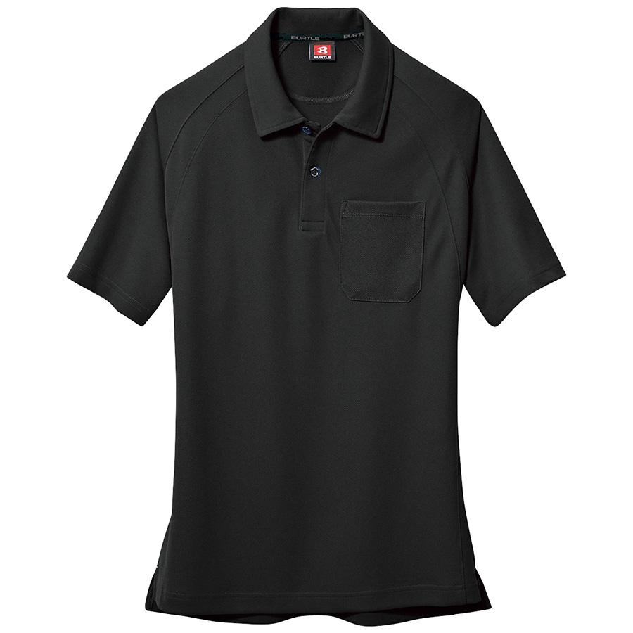 半袖ポロシャツ 105−035 ブラック (SS〜3L)