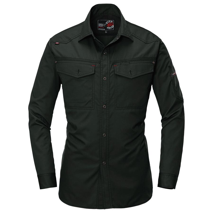 長袖シャツ 1103−35 ブラック (S〜3L)