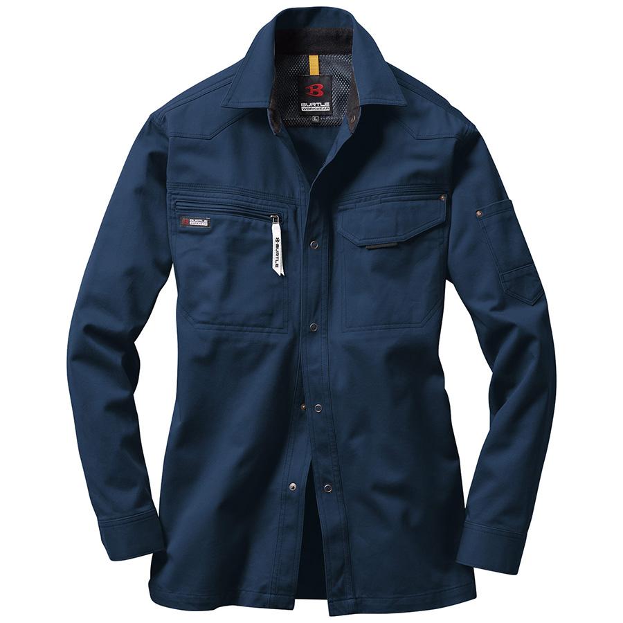 長袖シャツ 1303−3 ネイビー (5L)
