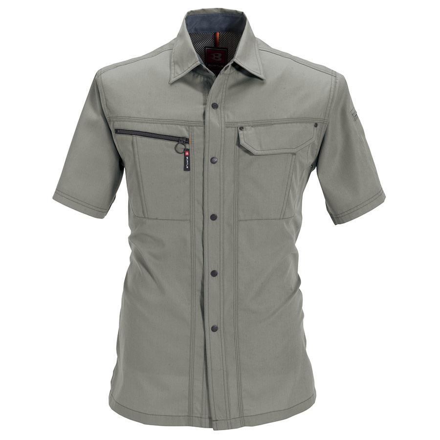 半袖シャツ 6065−21 グレージュ (5L)