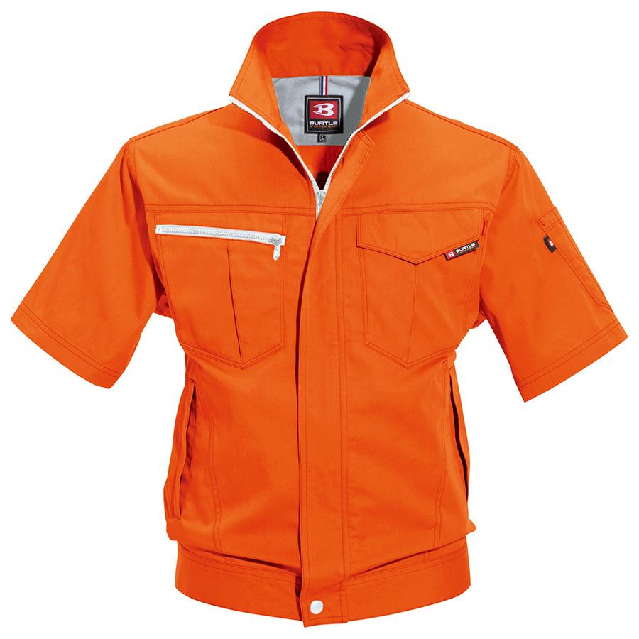 半袖ジャケット 6082−84 オレンジ (5L)