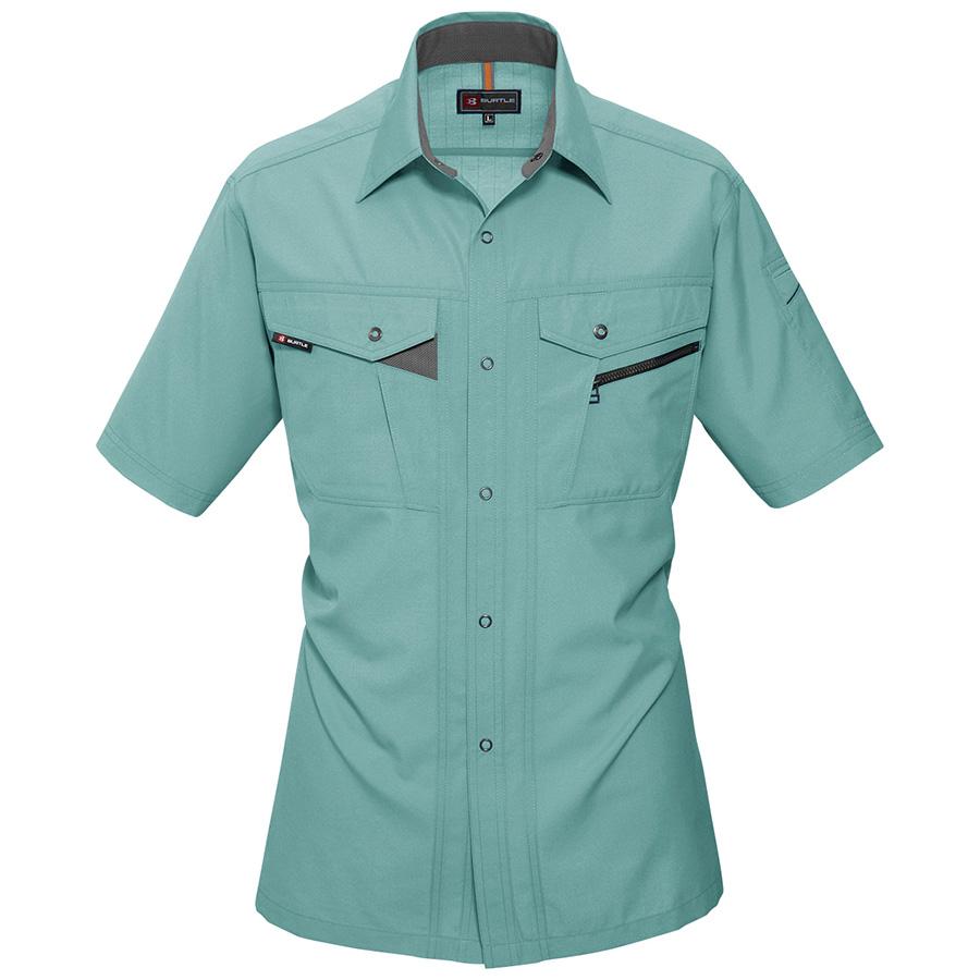 半袖シャツ 7065−1 アースグリーン (S〜3L)