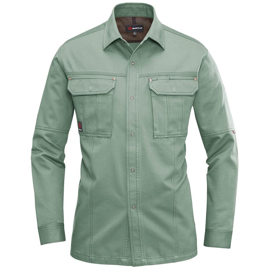 長袖シャツ 8093−1 アースグリーン (5L)