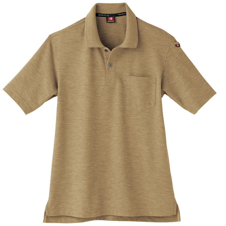 半袖ポロシャツ 507−24 キャメル(杢) (SS〜3L)