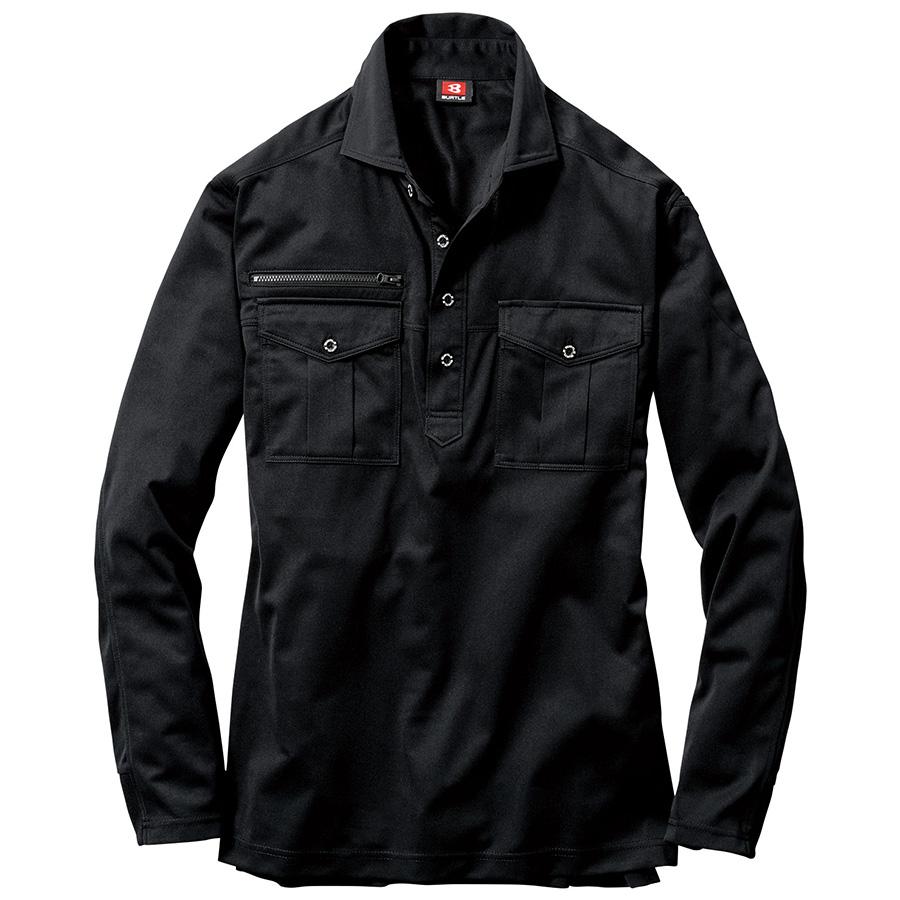 長袖シャツ 705−035 ブラック (4L)