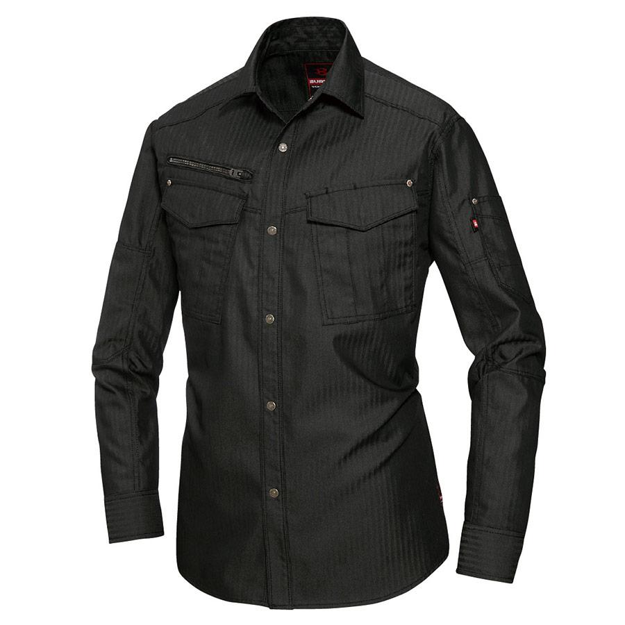 長袖シャツ ユニセックス 5515HB−35 ブラック (5L)
