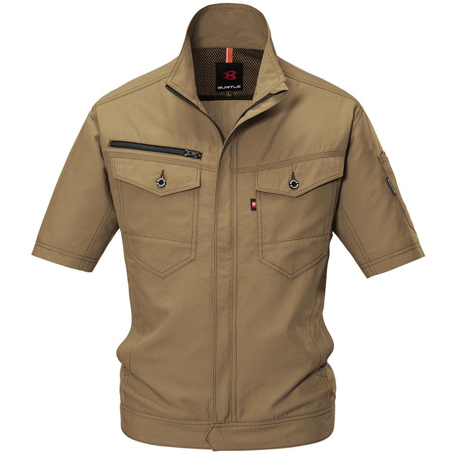 半袖ジャケット 9086−23 カーキ (4L)
