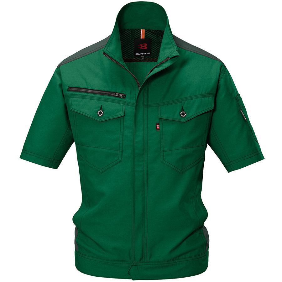 半袖ジャケット 9086−10 グリーン (SS〜3L)