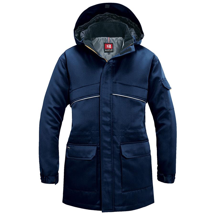 防寒コート 大型フード付 7111−3 ネイビー (5L)