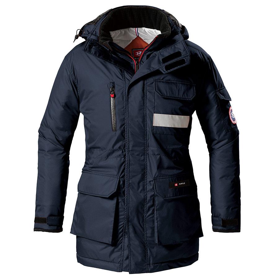 防寒コート 大型フード付 7211−3 ネイビー (4L)