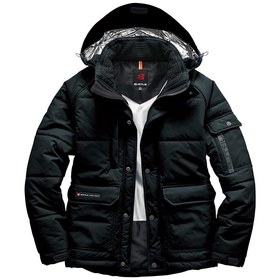 防寒ジャケット(大型フード付) ユニセックス 7510−35 ブラック (SS〜3L)