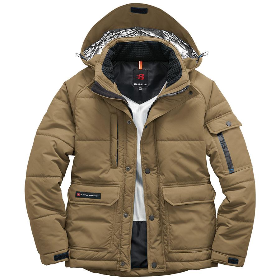 防寒ジャケット(大型フード付) ユニセックス 7510−23 カーキ (SS〜3L)