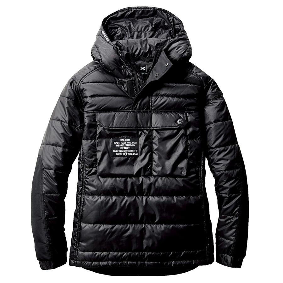 防寒アノラックパーカ 4062−35 ブラック (M〜XL)