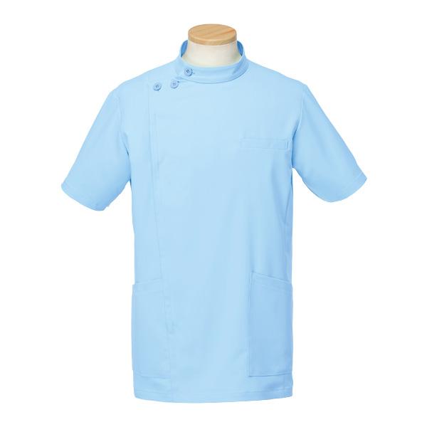 半袖ケーシージャケット R8796−11 メンズ ブルー (S〜4L)
