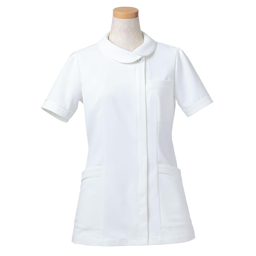 半袖ナースジャケット R8441−21 レディス ホワイト (S〜4L)