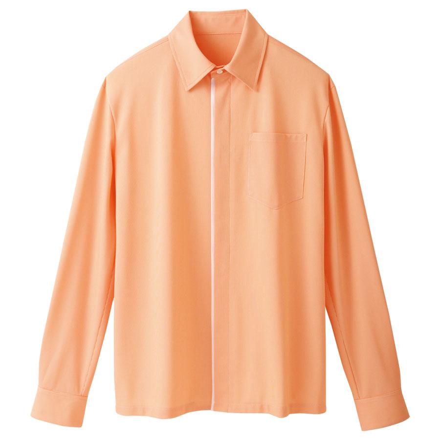 ユニセックス 長袖ニットシャツ 63364 オレンジ