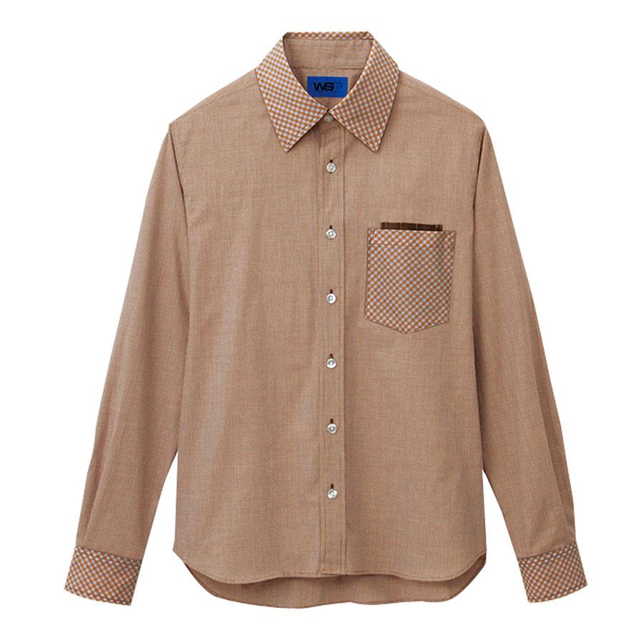 ユニセックス 長袖シャツ 63397 ブラウン
