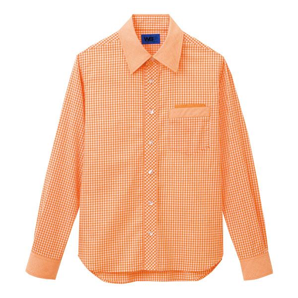 ユニセックス 長袖シャツ 63414 オレンジ 4L