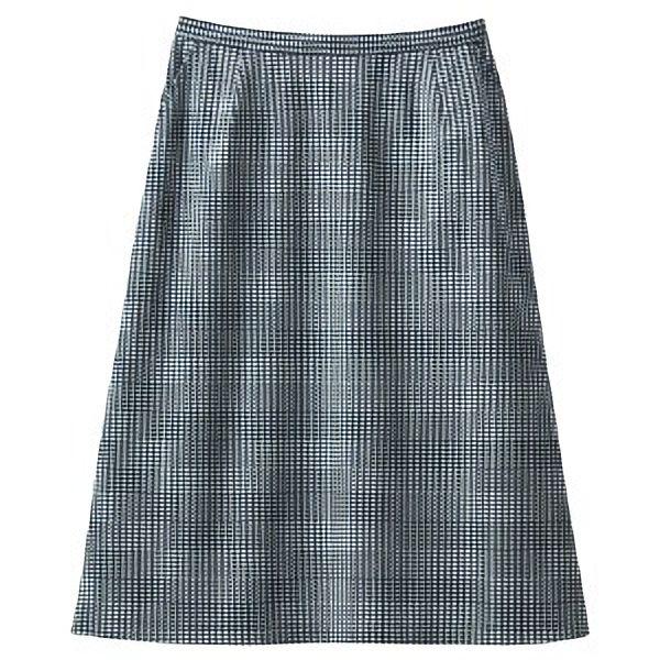Aラインスカート 16508 ホワイト×ブラック (21・23号)
