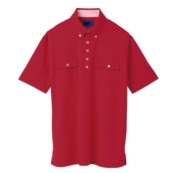 ユニセックス ポロシャツ 65243 レッド