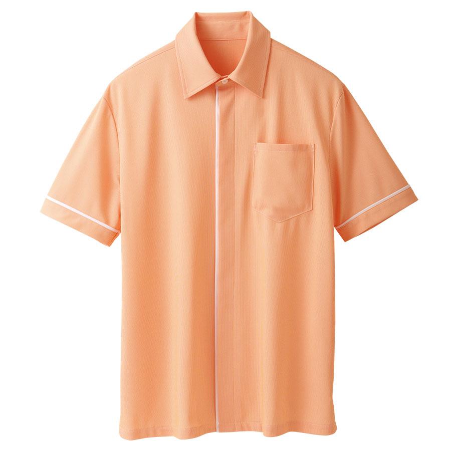 ユニセックス 半袖ニットシャツ 63344 オレンジ
