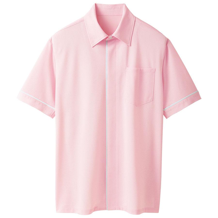 ユニセックス 半袖ニットシャツ 63346 ベビーピンク
