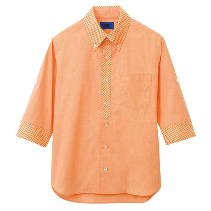 ユニセックス 五分袖シャツ 63384 オレンジ