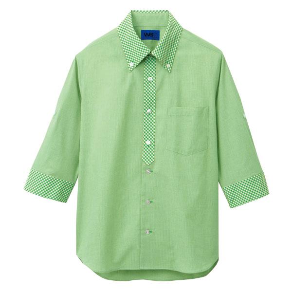 ユニセックス 五分袖シャツ 63385 グリーン