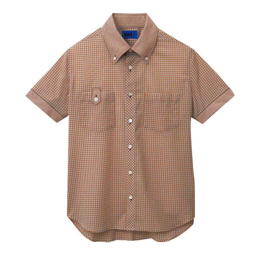 ユニセックス 半袖シャツ 63407 ブラウン 4L