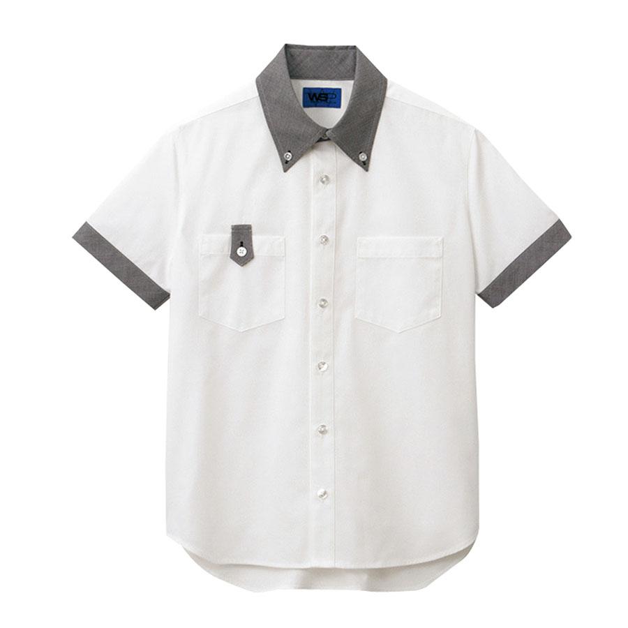 ユニセックス 半袖シャツ 63408 ホワイト