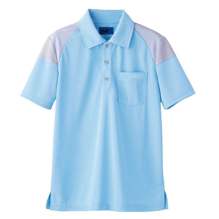 ユニセックス ポロシャツ 65372 サックス SS〜3L