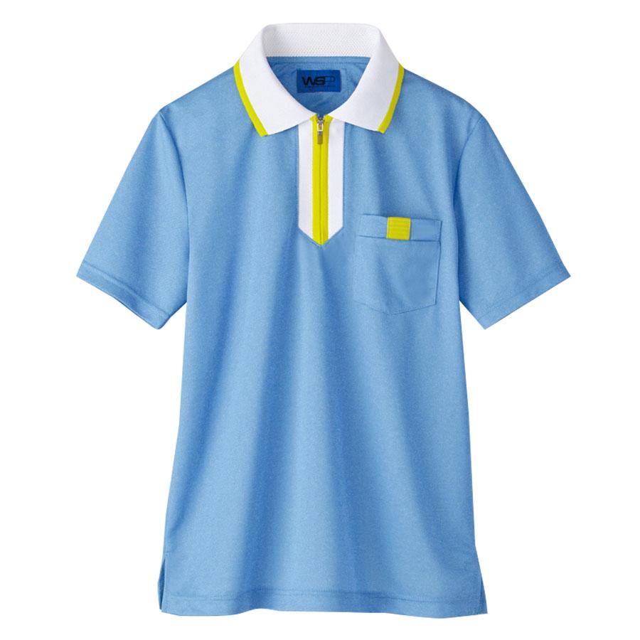 半袖ポロシャツ 65542 サックス 4L