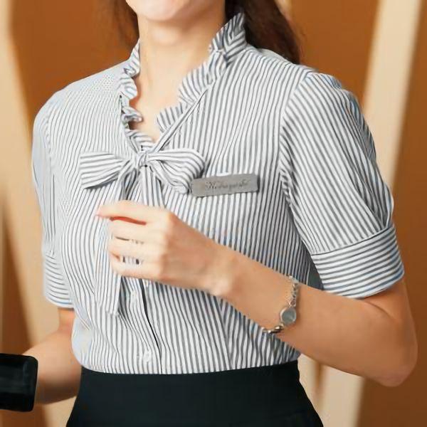 半袖 オーバーシャツ 36580 ブラック 5〜15号