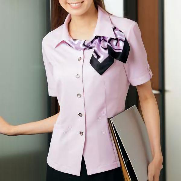 半袖 オーバーシャツ リボン付 50126 ピンク 5〜15号